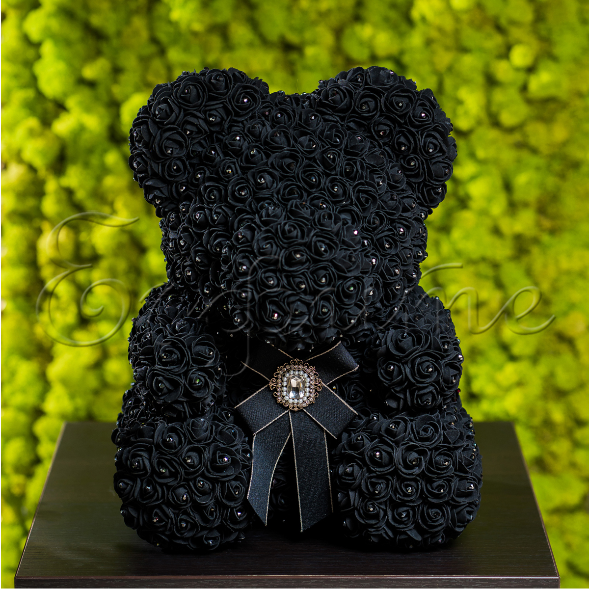 LITTLE LOVE BEAR with SWAROVSKI - BLACK
