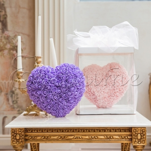 LOVE HEART with roses PURPLE - СЪРЦЕ от рози