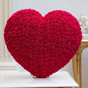 LOVE HEART with roses RED BIG - СЪРЦЕ от рози