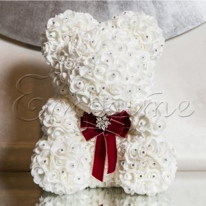 LITTLE LOVE BEAR with SWAROVSKI - WHITE